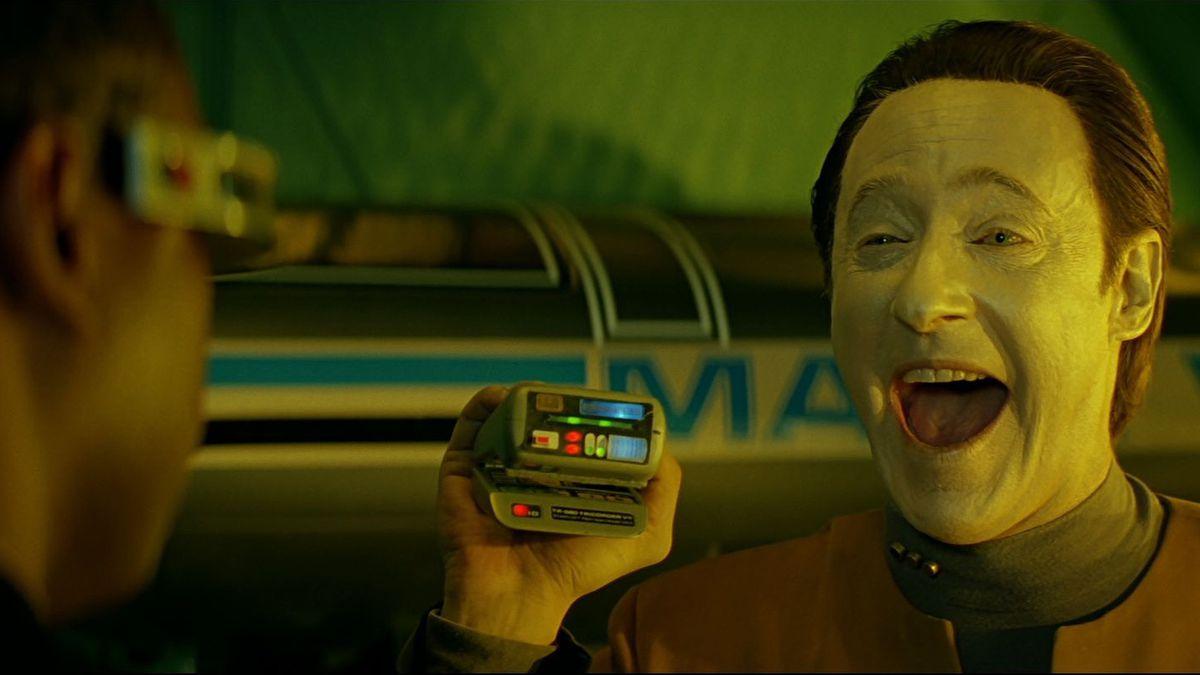 data laughing Star Trek: Generations